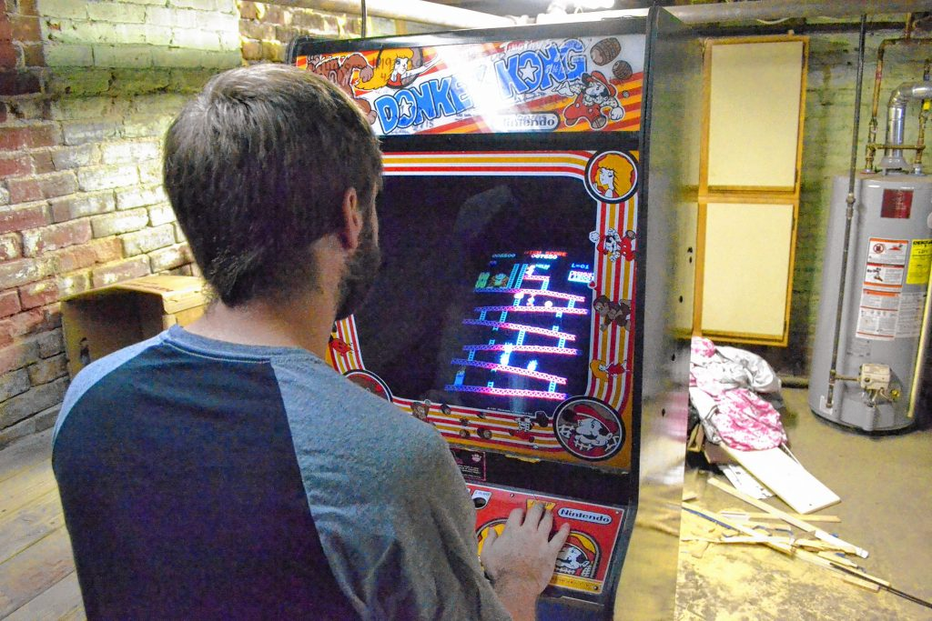 Concord's Robbie Lakeman reclaimed his Donkey Kong world record on Dec. 21 with a score of 1,230,100, a game that took three and a half hours to complete. TIM GOODWIN / Insider staff