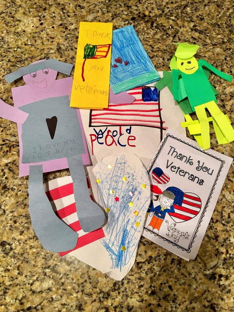 A selection of cards prepared for Laura Landerman-Garber's Holiday Card Challenge that send 16,000 cards to members of the Navy during the holidays. Courtesy of Laura Landerman-Garber