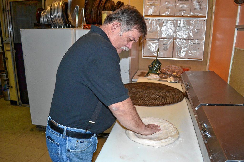 It takes three large dough balls to make the Donatello's super dominator. TIM GOODWIN / Insider staff