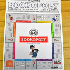 Go Try It: Do some reading with the library's Bookopoly