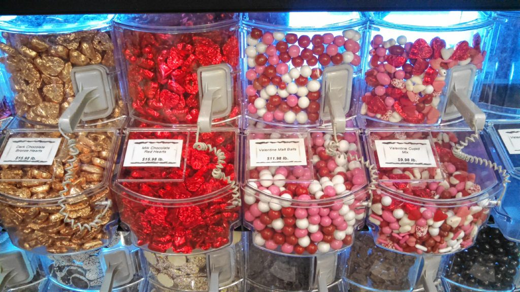 At Granite State Candy Shoppe on Warren Street, you can get pretty much any Valentine's Day-related sweet you can think of -- and then some. The chocolate roses tend to be a big hit, and they're a lot tastier than real roses, too. JON BODELL / Insider staff