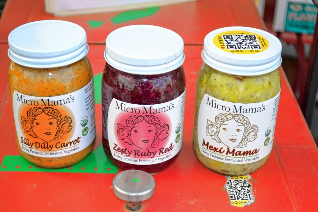 Fermented vegetables from Micro Mama's. TIM GOODWIN / Insider staff