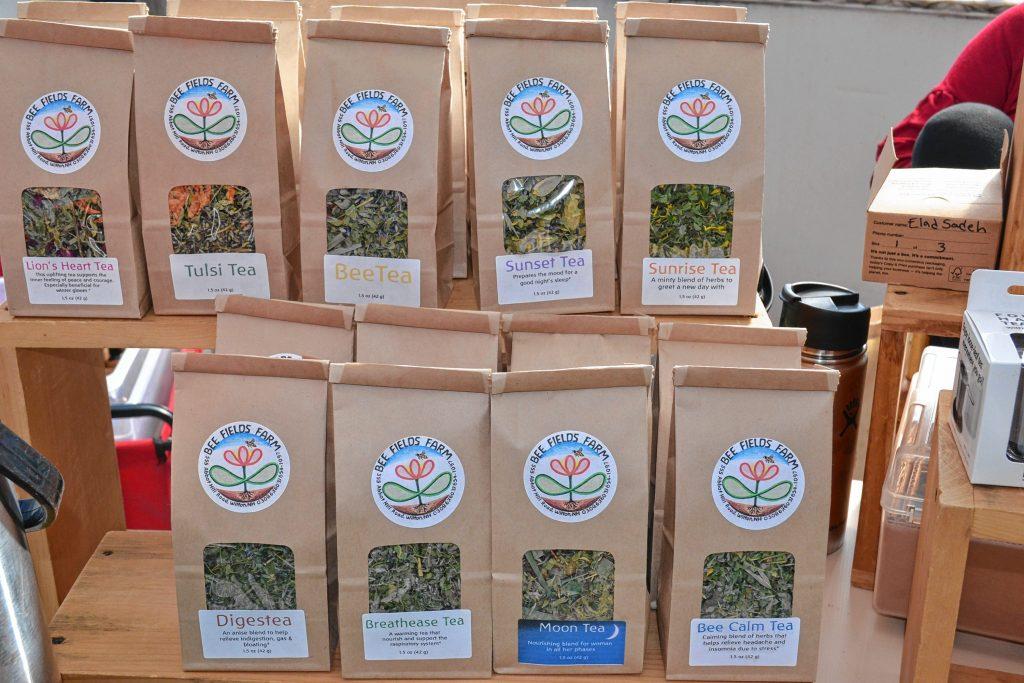 Tea from Bee Fields Farm. TIM GOODWIN / Insider staff