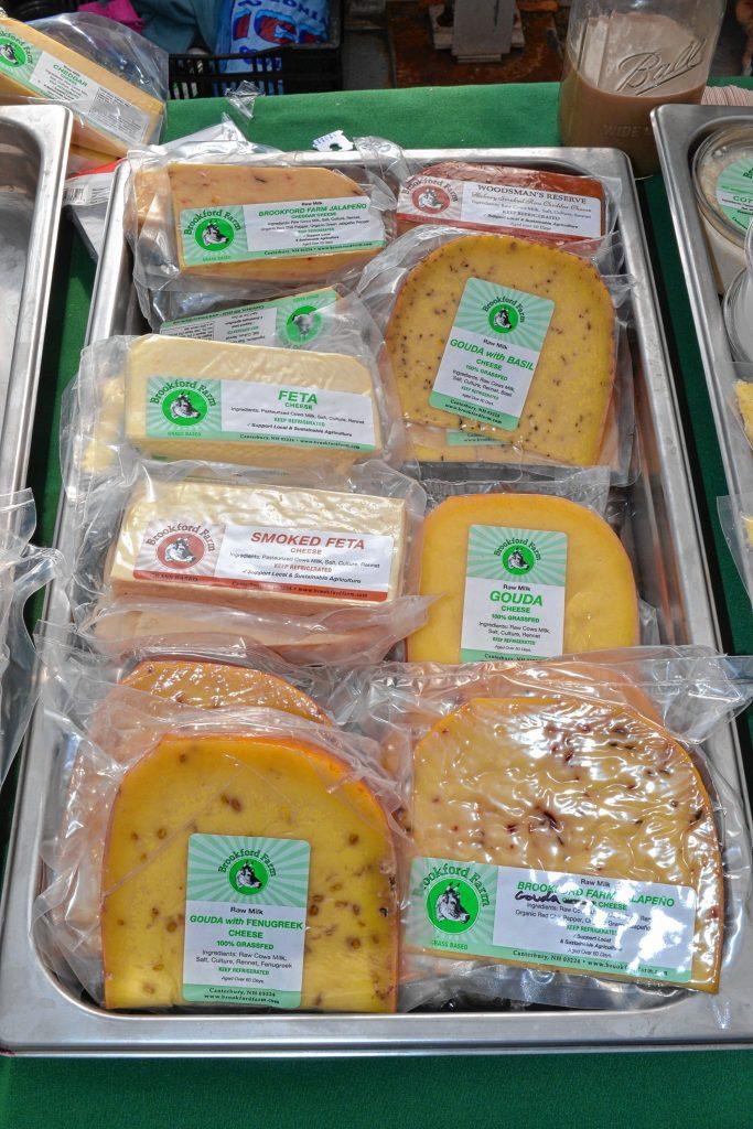 Cheeses from Brookford Farm. TIM GOODWIN / Insider staff
