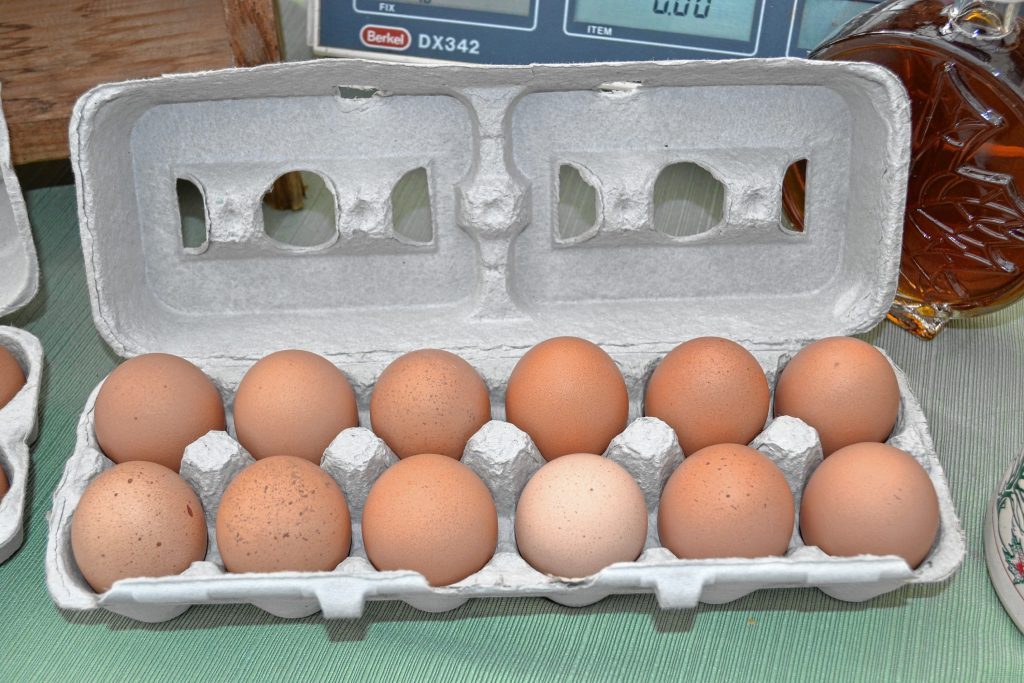 Eggs from Meadowview Farm. TIM GOODWIN / Insider staff