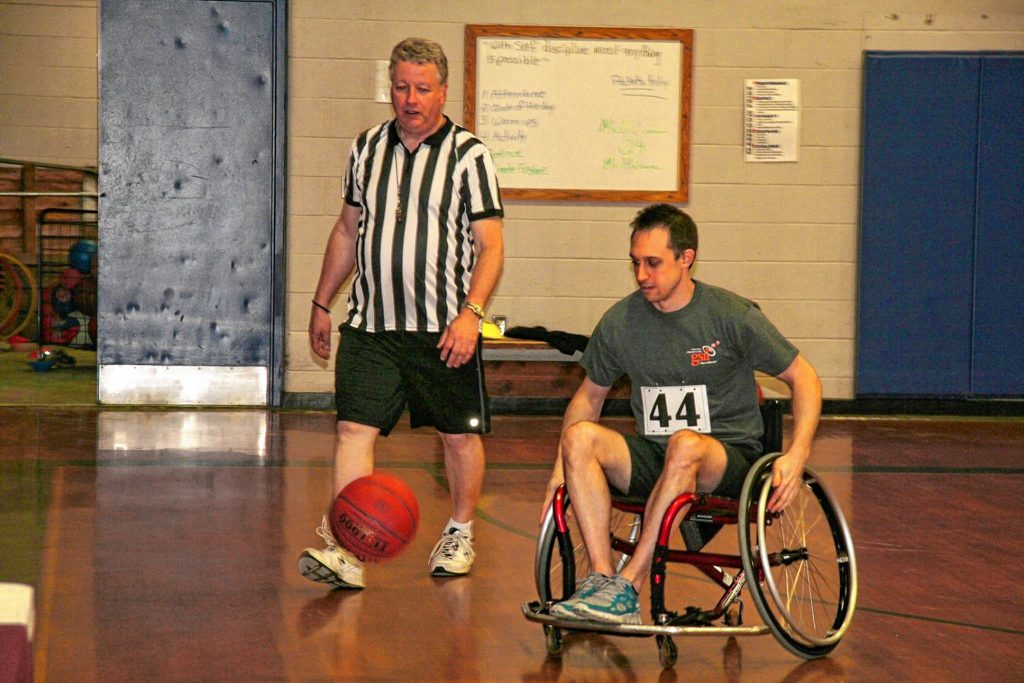 Granite State Independent Living is hosting a wheelchair basketball tournament at Rundlett Middle School on Saturday. Courtesy