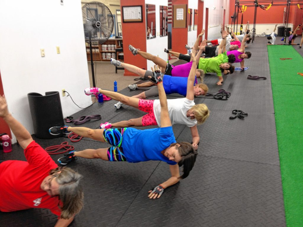 A group of fitness buffs works out at Get Fit NH, which focuses on a unique training approach known as Smart Group Training.  Get Fit NH has locations in both Concord and Epsom. Courtesy of Get Fit NH