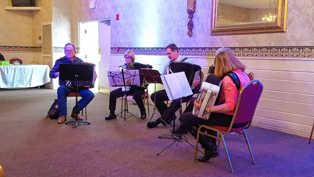 The New Hampshire Accordion Association will be among the musical performers at ConcordTV's Easter Eggstravaganza at the Bektash Shrine Center  on Friday. Courtesy of ConcordTV