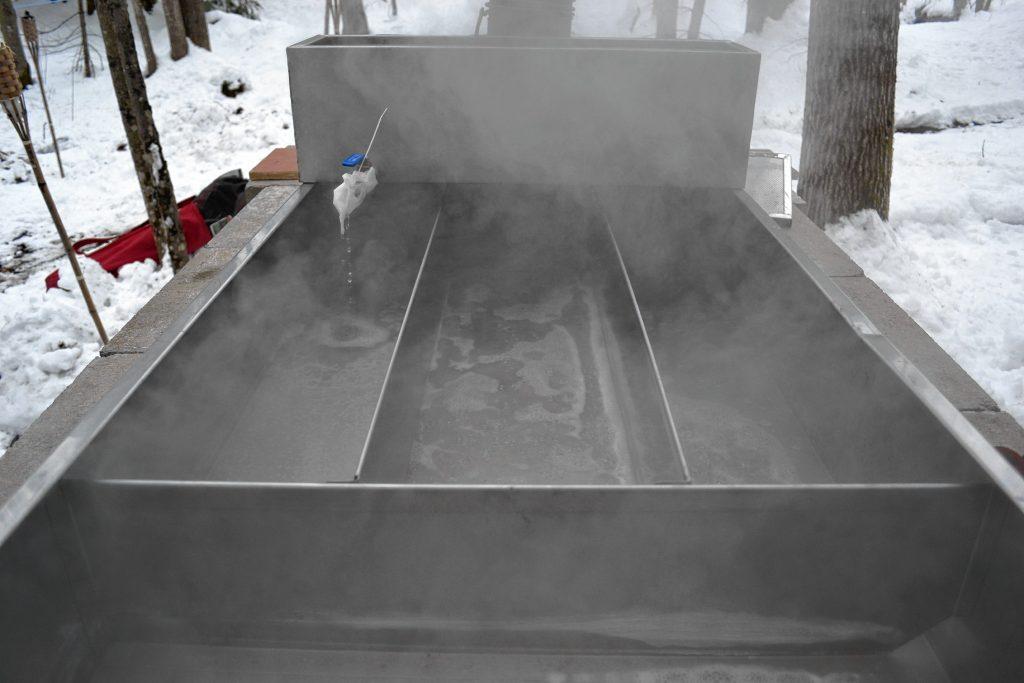 The evaporator at Beaver Brook Maple. TIM GOODWIN / Insider staff