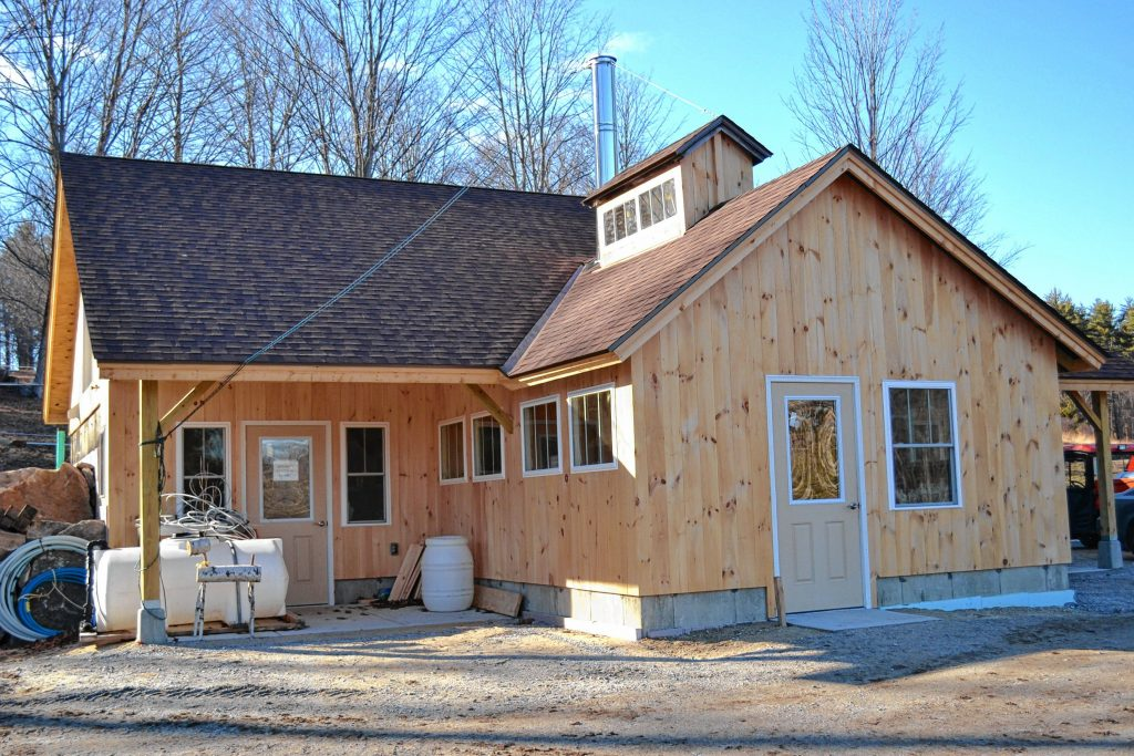 The new sugarhouse at Mapletree Farm is looking really nice – and will be ready to show off during Maple Weekend. TIM GOODWIN / Insider staff