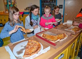 Christa McAuliffe students voted for the best pizza, too