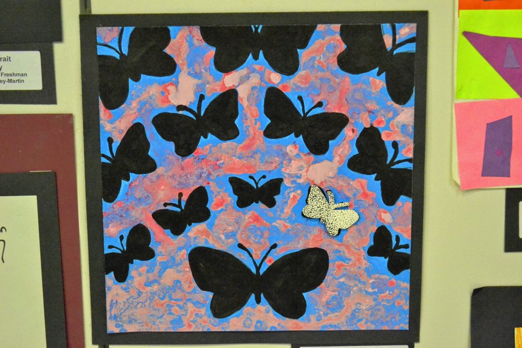 The Concord School District is hosting its annual Youth Art Month exhibit at Steeplegate Mall through April 18. TIM GOODWIN / Insider staff