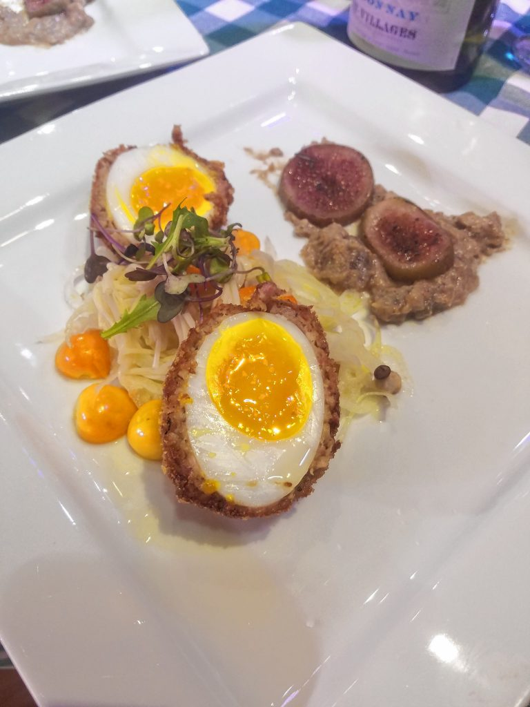 Jason Seavey, executive chef at Havenwood, prepared a Scotch duck egg, wrapped in mushroom and duck sausage, meal that took home top honors at the 4th annual Iron Chef of Concord, hosted by GoodLife Programs & Activities. Courtesy