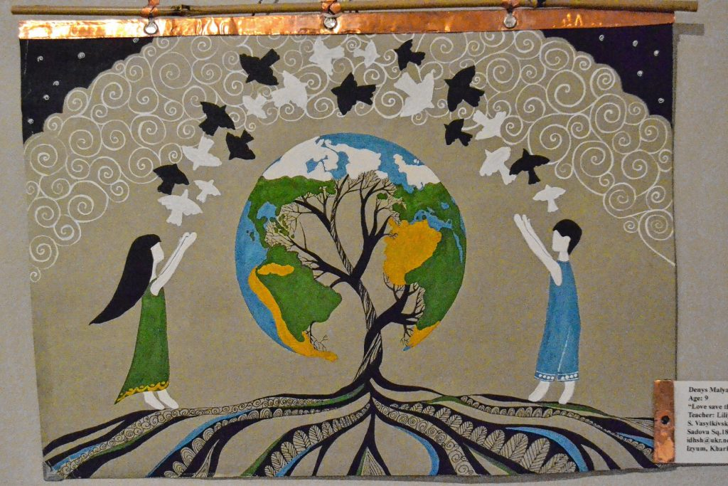 Love save the world, Denys Malyarov, The Peace in the World, Concord Library. TIM GOODWIN / Insider staff