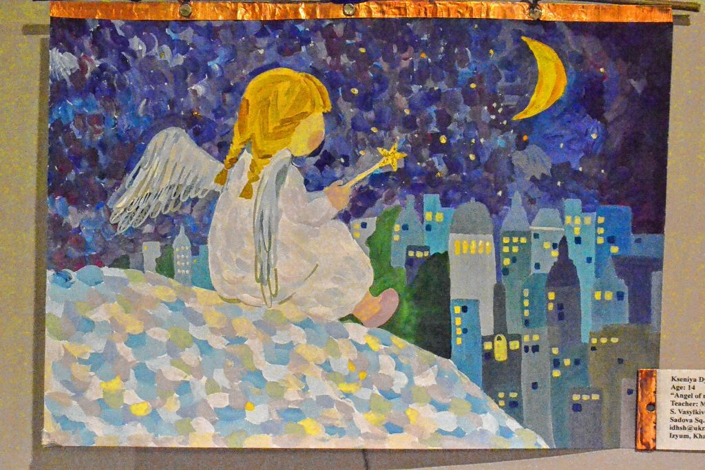 Angel of native city, Kseniya Dybovyk, The Peace in the World, Concord Library. TIM GOODWIN / Insider staff