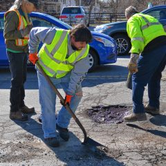 On the Job:Nothing like filling potholes to start the day
