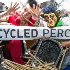Recycled Percussion to make a racket at NHTI