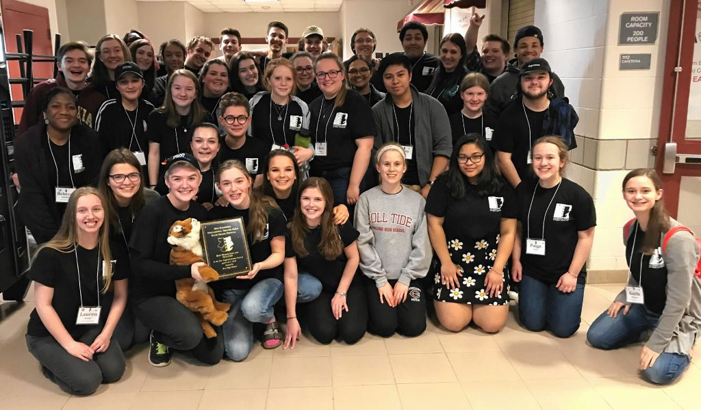 The Concord High School drama club took one of the top two spots at the New Hampshire Educational Theatre Guild's State Festival to advance to New Englands. Courtesy