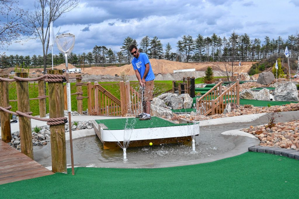 Jon takes a shot at Chuckster's in Hooksett. He really had it going for about half the game. TIM GOODWIN / Insider staff