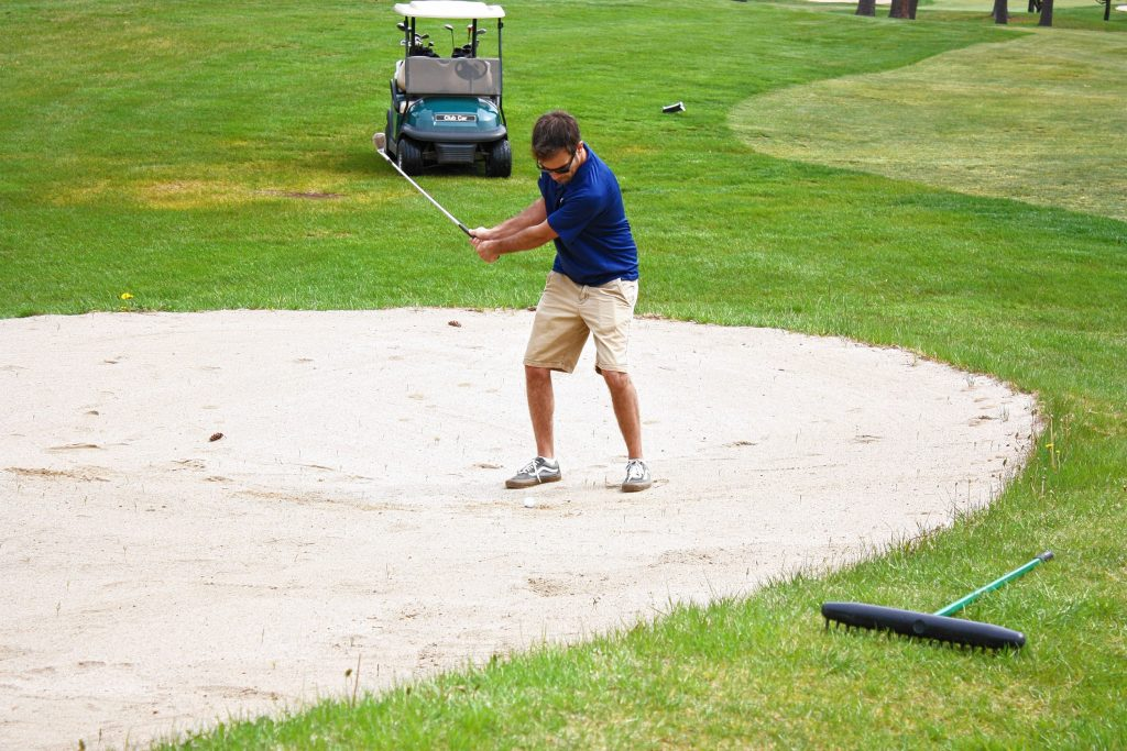 At Beaver Meadow Golf Course, winner of the Best Golf Course Cappies award, Jon spent the bulk of his day working on his sand game. NICK STOICO / Monitor staff