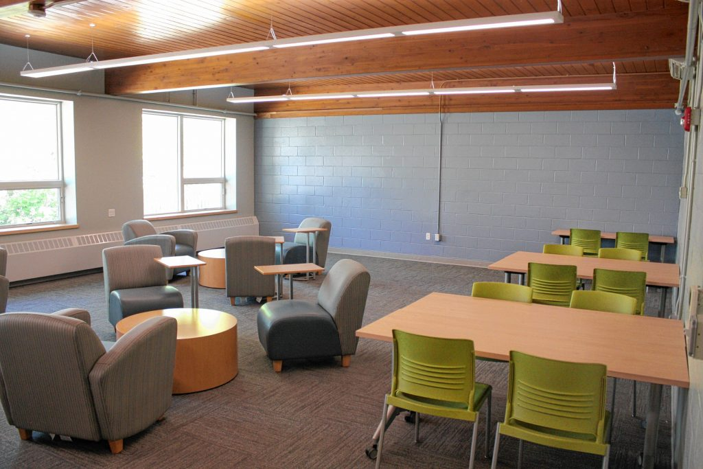 The modern program rooms at the new community center on Canterbury Road are designed to be completely multipurpose and multigenerational, with the idea that any room can be used for any type of programming at any time. JON BODELL / Insider staff