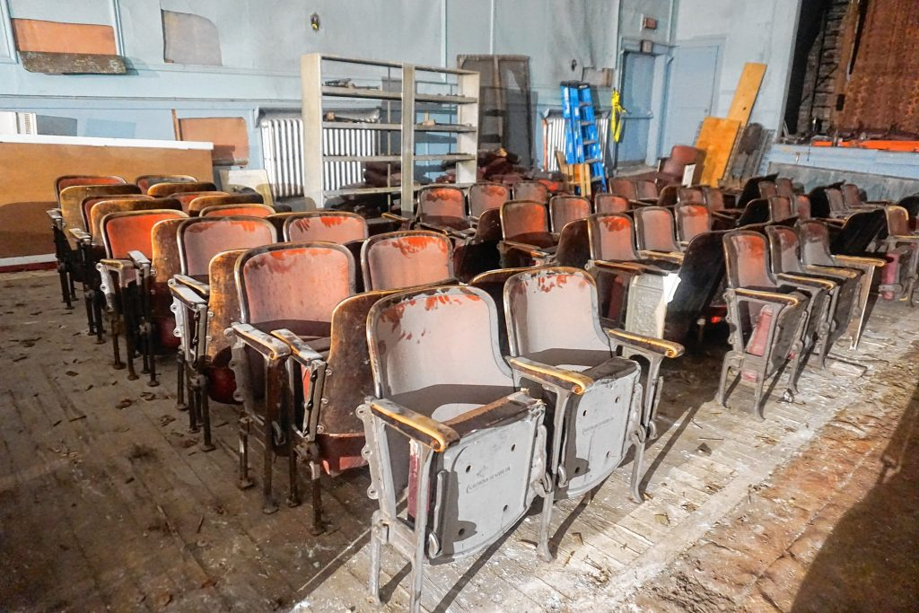The Capitol Center for the Arts are giving away the old seats from the Concord Theatre on Saturday. Courtesy