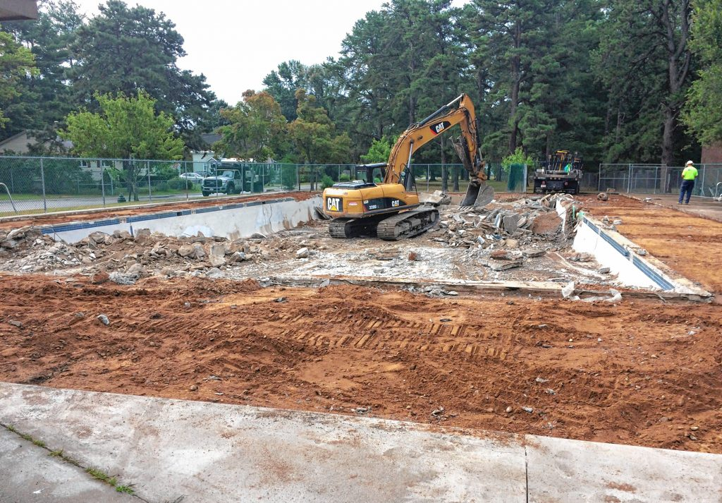 Here's a look at construction workers ripping out the old pool at Keach Park. Courtesy of Concord General Services