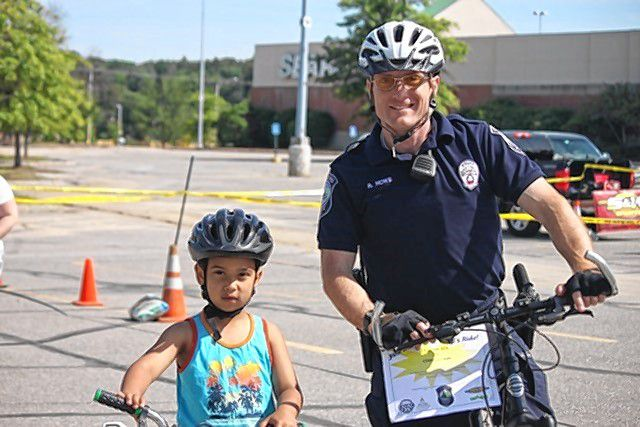 Kids and police officers alike had a great time at the Concord Police Department's second annual Bike Rodeo at Steeplegate Mall on June 3. The day featured  more than 100 kids getting their first bikes, as well as safety tips, free food, BMX stunt riders and more.  Courtesy of Stacey Brown