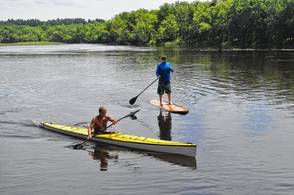 """It's not every day you get to spend a day on the water with local fitness legend Tom Walton. But that's the beauty of working at the """"Insider"""" – the never-ending perks. See just how reporter Tim Goodwin did during his stand up paddle board lesson on the Merrimack River when you turn to page18."""
