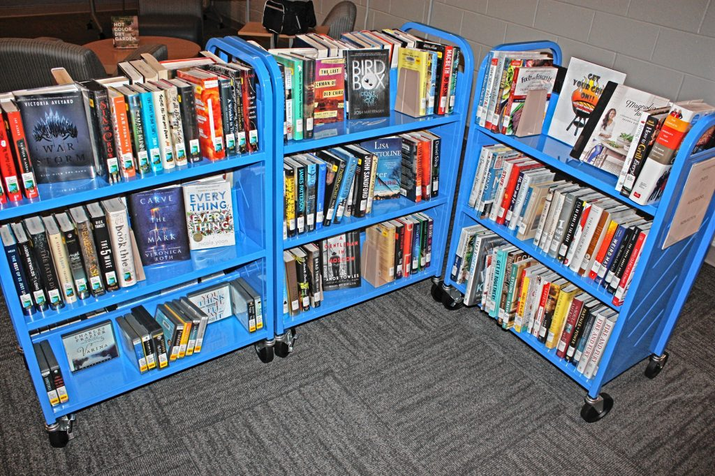 The new City Wide Community Center has a little mini library inside. It's an extension of the main Concord Public Library, and they keep a little bit -- a very little bit -- of everything in stock at the community center location. You can also request materials from the larger library to be sent here and vice versa. JON BODELL / Insider staff