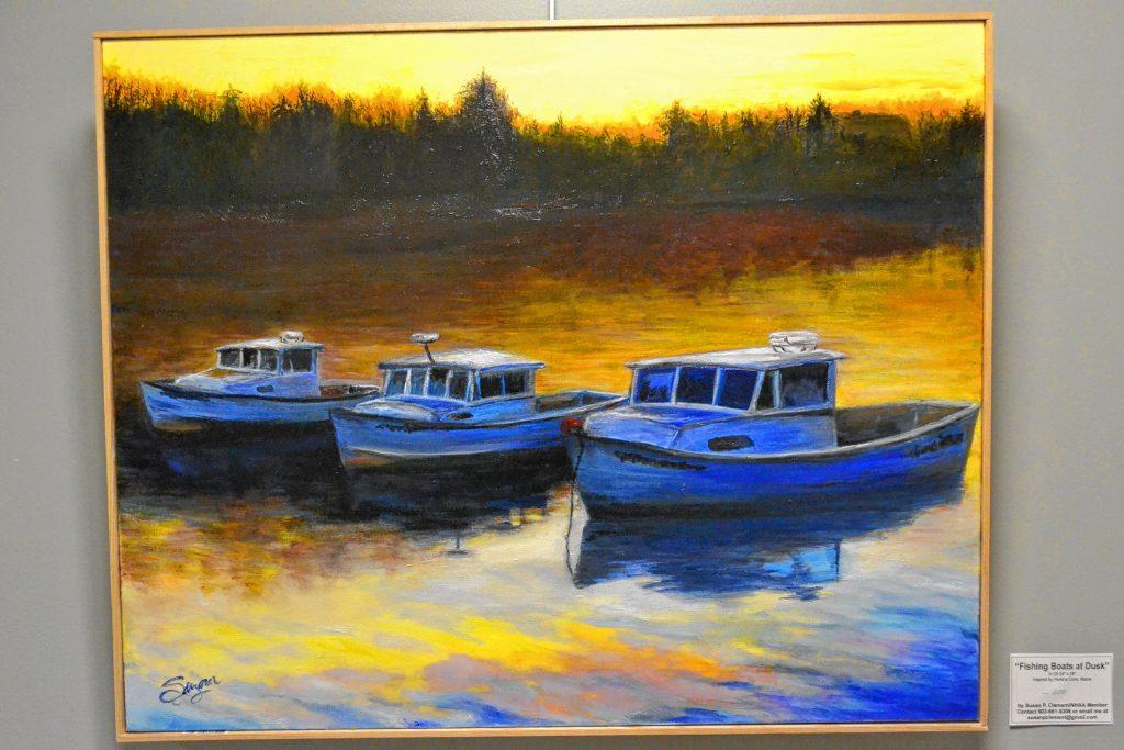 Fishing Boats at Dusk, Susan Clement, N.H. Art Association, 2 Pillsbury St. TIM GOODWIN / Insider staff