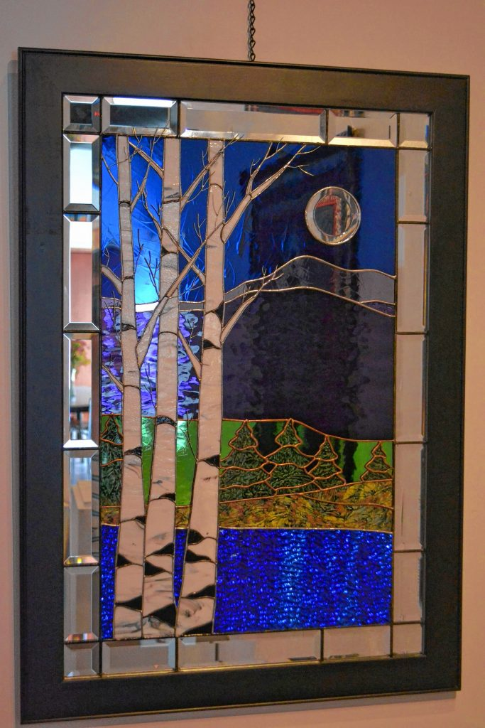Framed Stained Glass, Rosemarie Ferry, League of N.H. Craftsmen, Celebrating 85 Years: The Stevens Collection. TIM GOODWIN / Insider staff