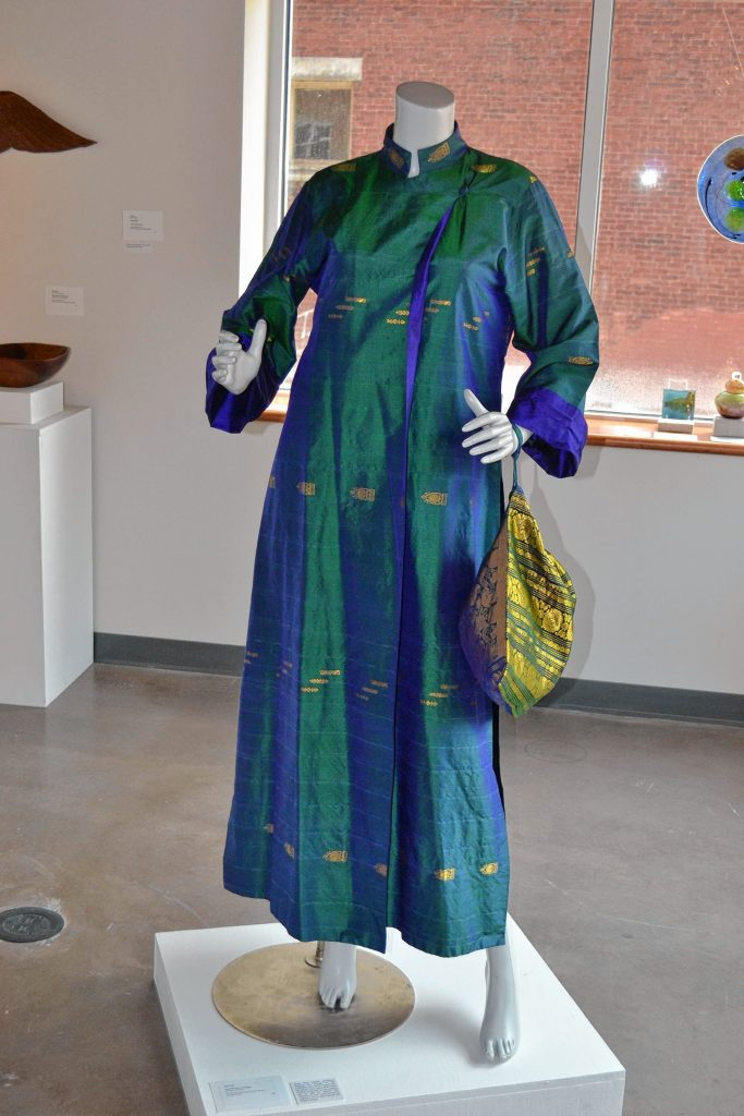 Peacock Dress and Bag, Ann Peck, League of N.H. Craftsmen, Celebrating 85 Years: The Stevens Collection. TIM GOODWIN / Insider staff