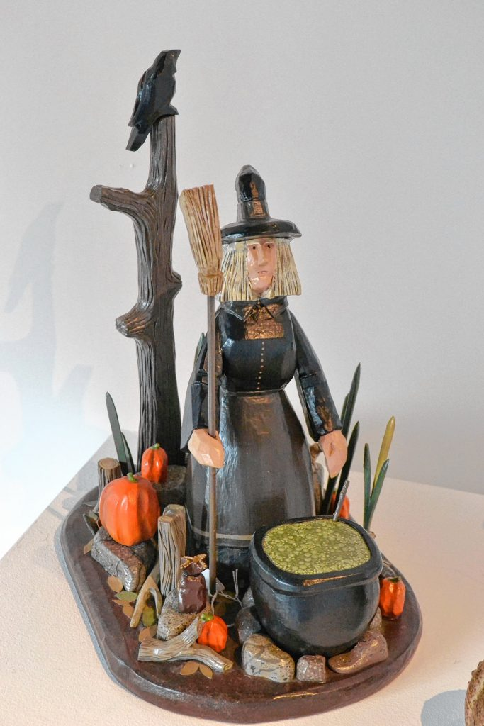 Halloween Witch Painted Wood Carving, Shirley Mensch, League of N.H. Craftsmen, Celebrating 85 Years: The Stevens Collection. TIM GOODWIN / Insider staff