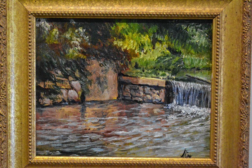 Griffin Park Dam, Aline Lotter, N.H. Women's Caucus for Art – A Second Look, Kimball Jenkins. TIM GOODWIN / Insider staff
