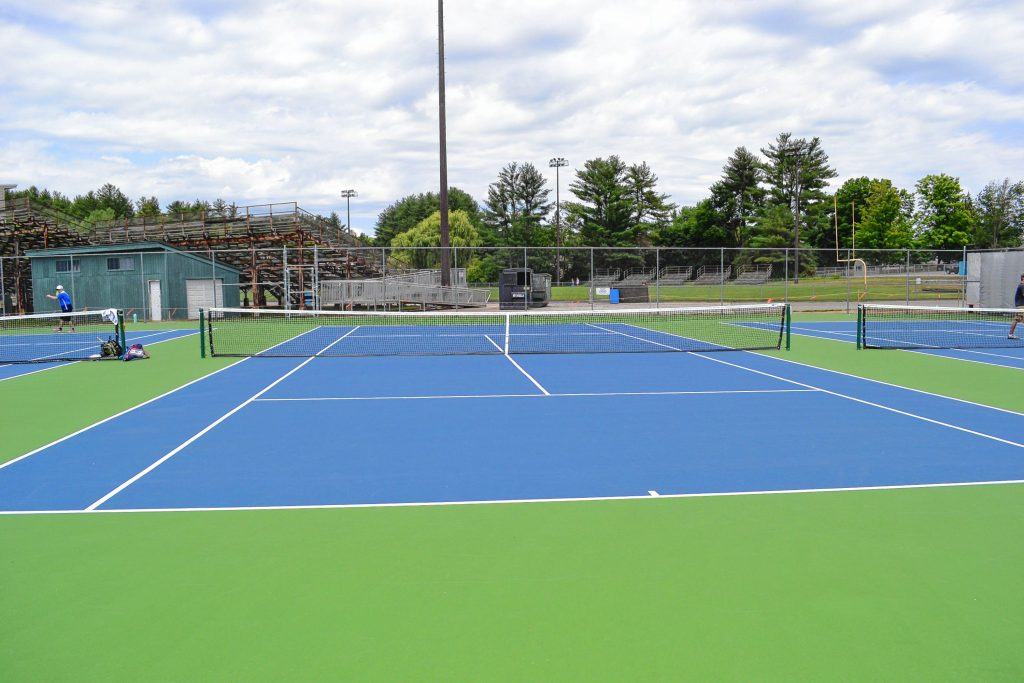 The new tennis courts at Memorial Field are looking great after a much-needed facelift. TIM GOODWIN / Insider staff