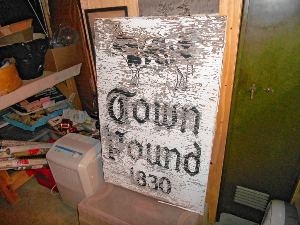 Here's how the old Concord Town Pound sign looked before Wayne Stickney spruced it up. Courtesy of Wayne Stickney