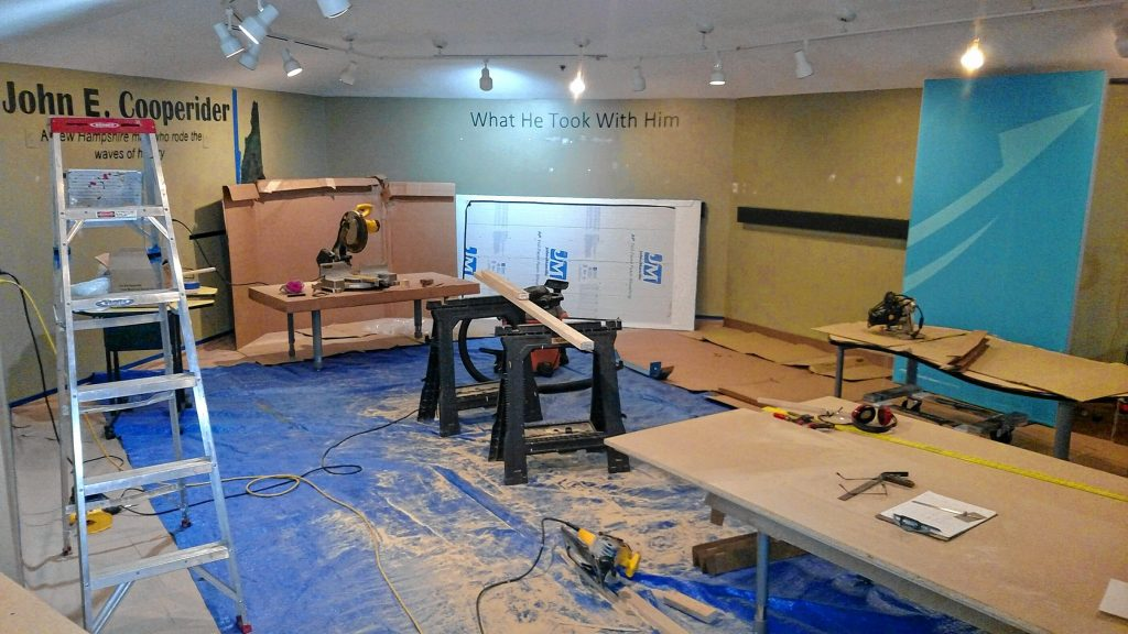 Construction of the Discovery Lab was underway at the McAuliffe-Shepard Discovery Center last week. By this Friday, all this construction debris will be out of the way and the new tinkering space will be ready for tinkering. Courtesy of McAuliffe-Shepard Discovery Center