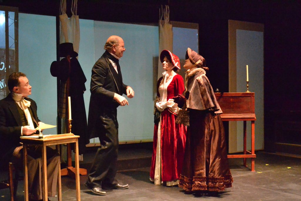 An original adaptation of Dickens' A Christmas Carol is currently showing at Hatbox Theatre through Dec. 18. Tim Goodwin