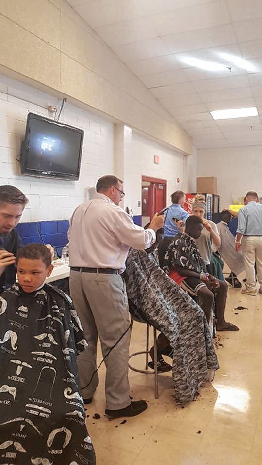 In addition to backpacks, school supplies and toiletries, students can also get a free haircut at the Ready to Learn Fair. Courtesy