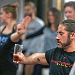 Get a relaxing workout while sipping some suds at Blooming Tree Yoga's beer yoga event