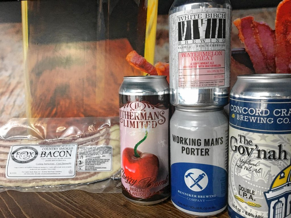 Here's a little sampling of what will be available at the Bacon and Beer pairing event at Local Baskit this Wednesday. Is your mouth watering yet? Courtesy of Beth Richards / Local Baskit