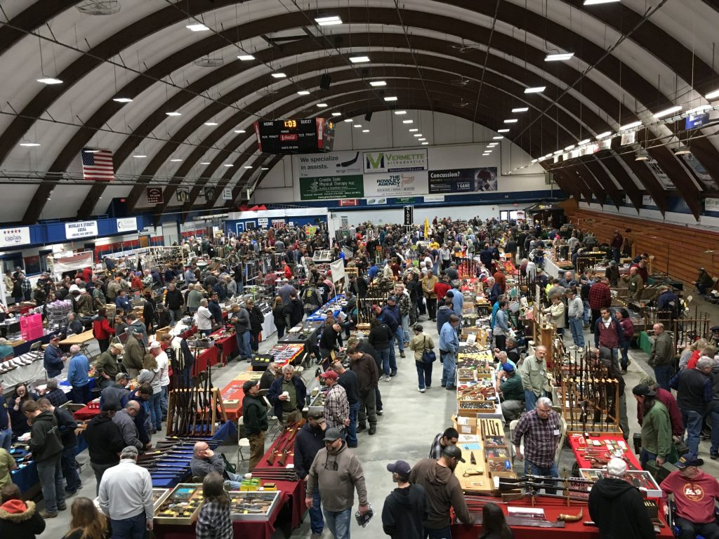 New England Event's gun show held at the Douglas N. Everett Arena in Concord on Saturday, April 14, 2018. The event had seen over 1,300 visitors by 1 p.m., organizer Matt Mayberry said.  Caitlin Andrews