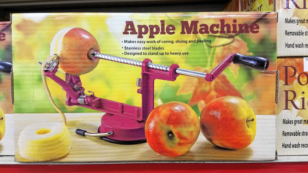 One thing's for sure -- you can't eat an apple without first running through an Apple Machine. These things can fetch hundreds of dollars in some places, but at the Job Lot, you don't even have to drop 20 bucks to snag one. JON BODELL / Insider staff