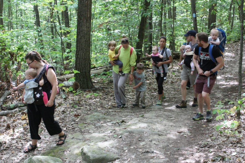It was a perfect day for Nature Babies at Marjory Swope Park last week. Look at how much fun all these parents and kids are having hiking through the woods. JON BODELL / Insider staff