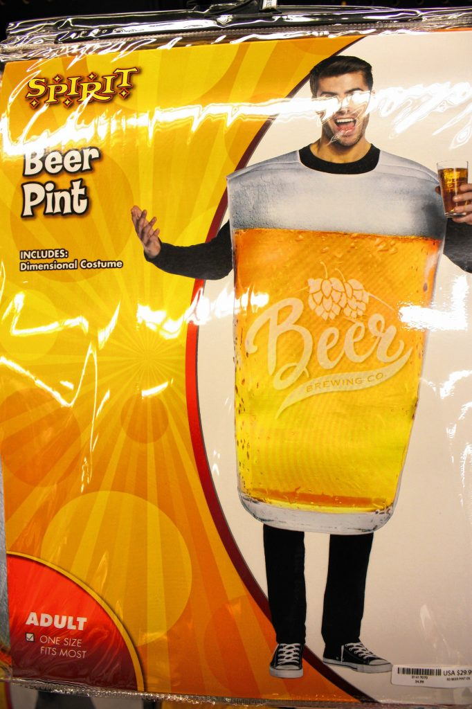 Here's a costume that's right up our alley -- a pint of beer. Clean, classic, straight to the point.  JON BODELL / Insider staff