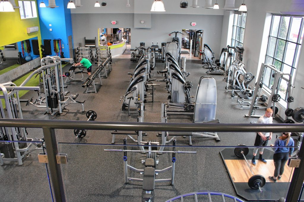 The main workout room at 43 Degrees North Athletic Club is full of state-of-the-art equipment by SportsArt. JON BODELL / Insider staff