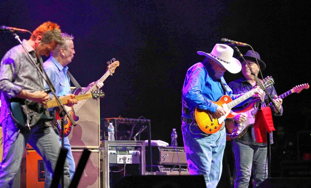 Charlie Daniels and musicians with The Charlie Daniels Band perform as the opener for Alabama at the Fabulous Fox Theatre on Friday, April 14, 2018, in Atlanta. (Photo by Robb Cohen/Invision/AP) Robb Cohen