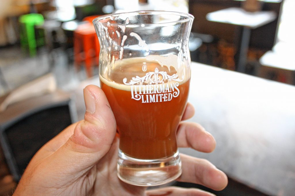 A taster of Quadracalabasia, an annual-release pumpkin beer from Lithermans Limited. This year's batch will be released the day before Thanksgiving. JON BODELL / Insider staff