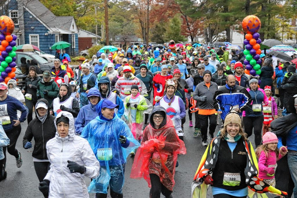 More than 250 people braved the weather, put on Halloween costumes and ran for Families in Transition - New Horizons-New Horizon at the seventh annual Wicked FIT Run in Concord on Oct. 27. The event raised more than $30,000 for FIT-NH. Courtesy of Families in Transition - New Horizons-New Horizons